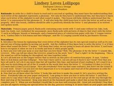 Lindsey Loves Lollipops Lesson Plan