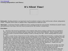 It's Silent Time Lesson Plan