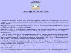 Easy Steps for Summarization Lesson Plan