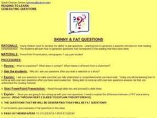 Skinny and Fat Questions Lesson Plan
