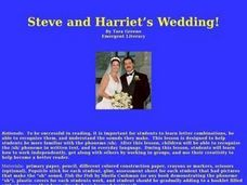 Steve and Harriet's Wedding Lesson Plan