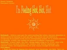 I'm Feeling Hot, Hot, Hot Lesson Plan
