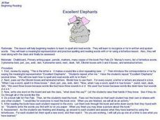 Excellent Elephants Lesson Plan