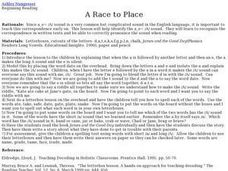 A Race to Place Lesson Plan
