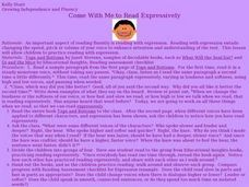 Come with Me to Read Expressively Lesson Plan