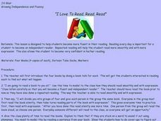"""I Love To Read, Read, Read"" Lesson Plan"