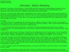 Attention:  Baby's Sleeping Lesson Plan