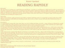 Reading Rapidly Lesson Plan