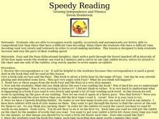 Speedy Reading: Growing Independence and Fluency Lesson Plan