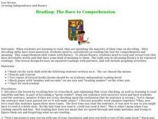 Reading: The Race to Comprehension Lesson Plan