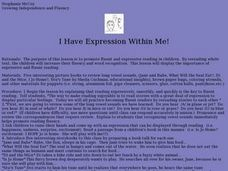 I Have Expression Within Me! Lesson Plan