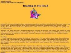 Reading in My Head - Growing Independence and Fluency Lesson Plan