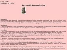 Successful Summarization Lesson Plan