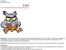 L.R.C. Learning Reading Comprehension Lesson Plan
