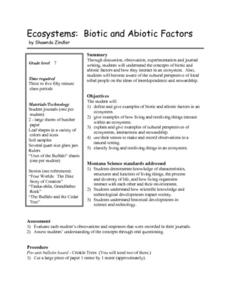 Ecosystems: Biotic and Abiotic Factors Lesson Plan