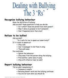 Bullying Can Be Stopped—K-3rd Lesson Plan