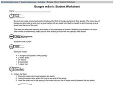 Bungee M&M's Worksheet
