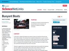 Buoyant Boats Lesson Plan
