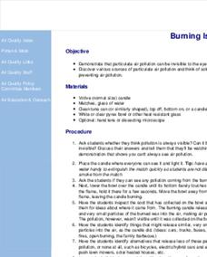 Burning Issues Lesson Plan