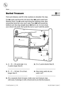 Buried Treasure Worksheet