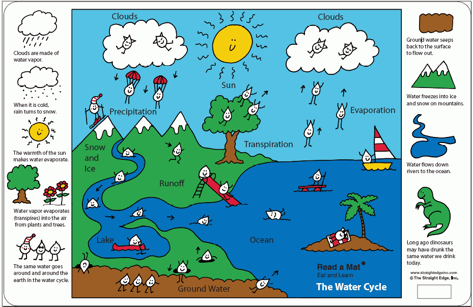 The Water Cycle A Placemat For Kids Printables Template