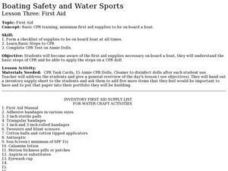 Boating Safety and Water Sports - Lesson 3 - First Aid Lesson Plan