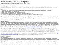 Boat Safety and Water Sports - Lesson 4 - Dangerous Sea Creatures Lesson Plan