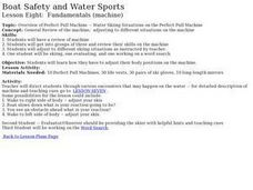 Boat Safety and Water Sports - Lesson 8 - Fundamentals (Machine) Lesson Plan