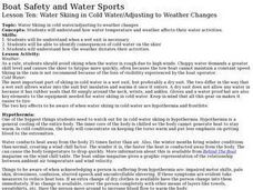 Boat Safety and Water Sports - Lesson 10 - Cold Water/Weather Lesson Plan