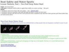 Boat Safety and Water Sports - Lesson 13 - Two Foot Deep Water Start Lesson Plan
