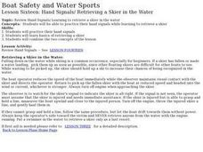 Boat Safety and Water Sports - Lesson 16 - Hand Signals, Water Skiing Lesson Plan