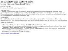 Boat Safety and Water Sports - Lesson 19 - Wake Board Tricks Lesson Plan
