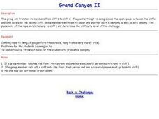 Challenge Game - Grand Canyon II Lesson Plan