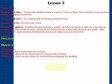 Footbag - Lesson 5 - Tricks Lesson Plan