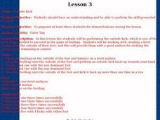 Footbag - Lesson 3 - Outside Kick Lesson Plan
