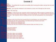 Footbag - Lesson 2 - Toe Pick Lesson Plan