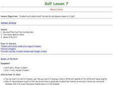 Golf - Lesson 7 - Mental Skills Lesson Plan