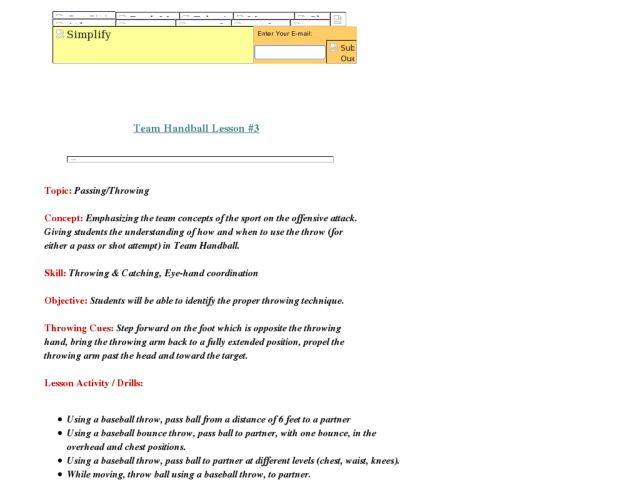 handball drills for students