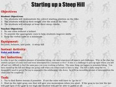 Mountain Biking - Lesson 3 - Starting Up a Steep Hill Lesson Plan