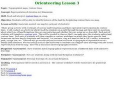 Orienteering - Lesson 3 - Topographical Maps and Contour Lines Lesson Plan