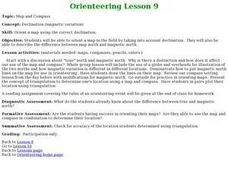 Orienteering - Lesson 9 - Declination Lesson Plan