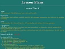 Tchoukball - Lesson 1 - Introduction, Basic Rules and Skills Lesson Plan