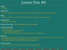 Tchoukball - Lesson 8 - Tournament Lesson Plan