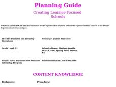 Business and Industry Operations Lesson Plan