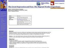 The Great Depression and Now: The Migrant Worker Experience Lesson Plan