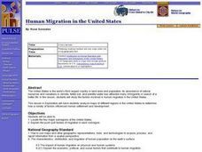 Human Migration in the United States Lesson Plan