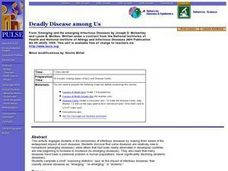 Deadly Disease among Us Lesson Plan