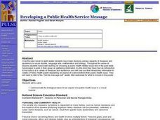 Developing a Public Health Service Message Lesson Plan