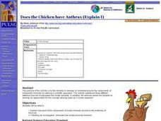 Does the Chicken have Anthrax (Explain I) Lesson Plan