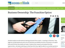 Business Ownership: The Franchise Option Lesson Plan